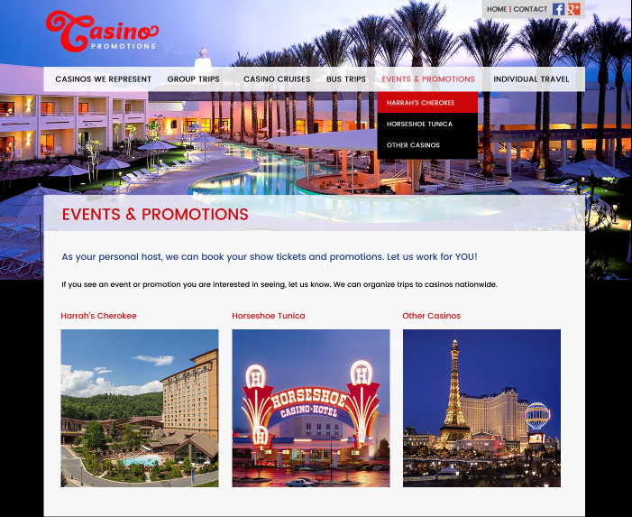Designs - New Website and Logo Redesign for Casino Promotions